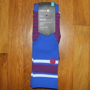 NEW Stance Gameday Stripe Basketball Socks Men's L